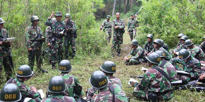 Komandan Secapaad Meninjau Latihan PKT/PKM