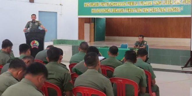 Sosialisasi Netralitas TNI di Aula Makodim 0309/Solok