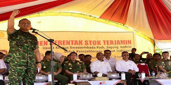 TNI: Siap Mendukung Rakyat Hadapi Mafia Dalam Mengawal Swasembada Pangan