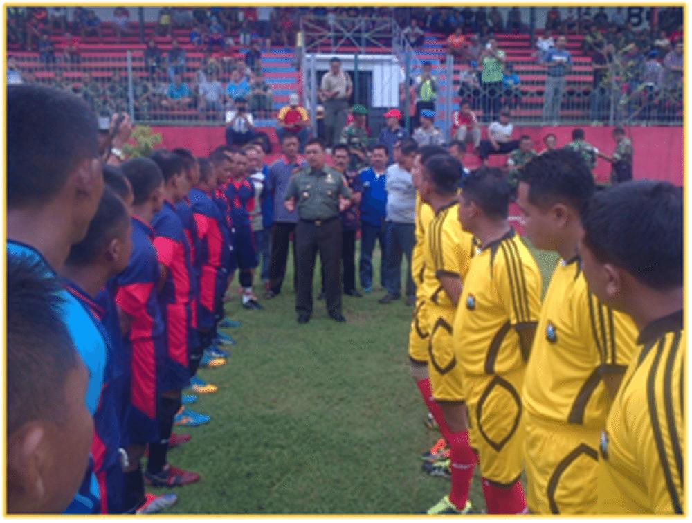 Dandim Mojokerto, Junjung Tinggi Sportifitas Pertandingan Sepak Bola U-40 PSSI Cup 2016