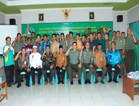 Tim Asistensi Pusterad TNI Kunjungi Kodim 1006/Martapura