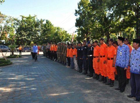 Anggota Kodim/1006 MTP Apel Siaga Karhutla Kab Banjar TA. 2016