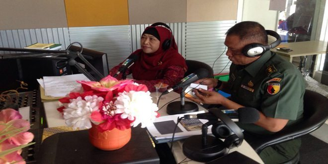 Staf Teritorial Kodam V/Brawijaya On Air Di Rri Pro 4 Surabaya