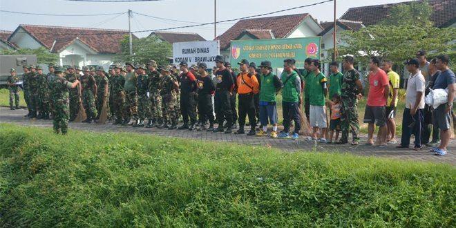 Korem 084/BJ Pelopori Gerakan Nasional Indonesia Bersih (GNIB) Bersama Ormas dan Masyarakat