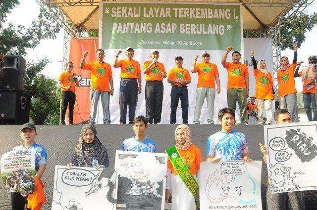 Korem 031/Wirabima Dukung Gerakan Hijau Riau Tanpa Asap