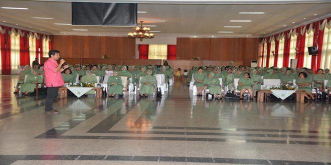 Persit KCK PCBS Akmil Menerima Penyuluhan Kanker Serviks