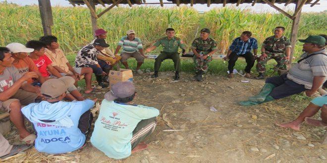 Dandim 0713/Brebes Mengumpulkan Gapoktan dan Petani di Desa Luwungbata