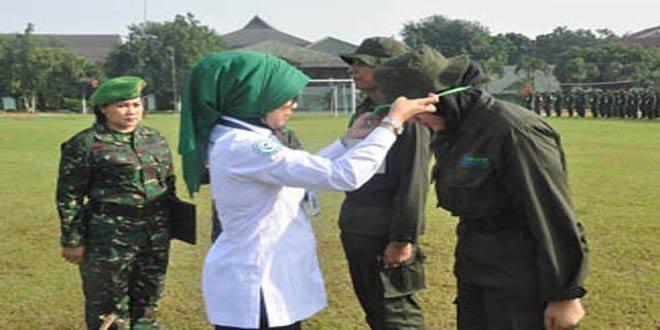 Pusdikkes Kodiklatlat TNI AD Selenggarakan Latihan Dasar Bela Negara