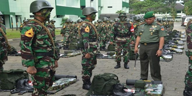 Sersan Taruna Akmil Melaksanakan Latihan Pramuka Yudha