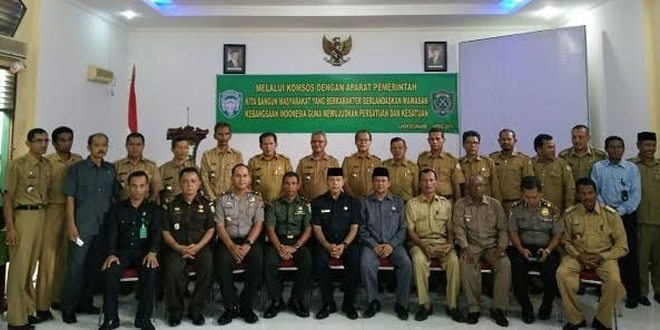 Kodim 0103/Aceh Utara Gelar Komsos Dengan Aparat Pemerintahan