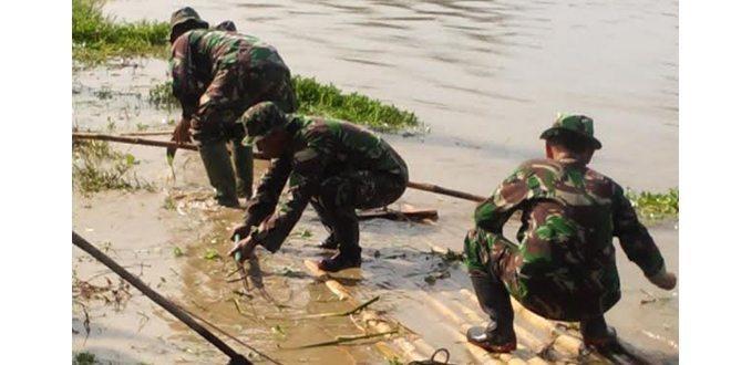 Apel Pembukaan Karya Bakti skala Besar Sungai Kali Malang Wilayah Korem 051/Wkt