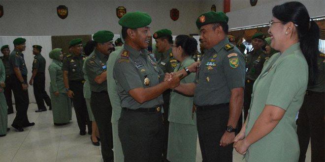 Lima Pejabat Kodam II/Swj Naik Pangkat Kolonel