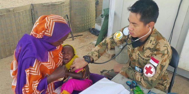 Kontingen Garuda Bantu Pelayanan Medis Masyarakat Lokal Darfur
