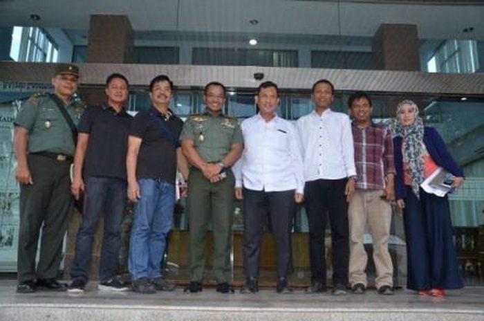 Silaturahmi Korem Dengan Media Cetak Radar Lampung