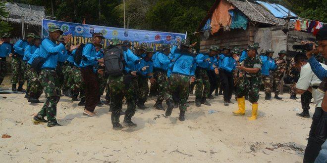 Danrem 033/Wira Pratama Kunjungi Pulau Karimun Anak dan Pulau Tukong Hiu