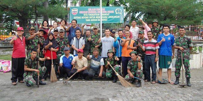 Penerangan Kodam I/Bb Laksanakan Kegiatan Aksi Gerakan Nasional Indonesia Bersih (GNIB)