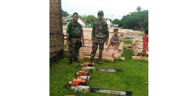 Tim Gabungan Tangkap Pelaku Ilegal Loging di Sumbawa