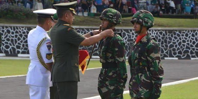 Pelantikan 171 Prajurit Siswa Dikma PA PK TNI Di Akademi Militer