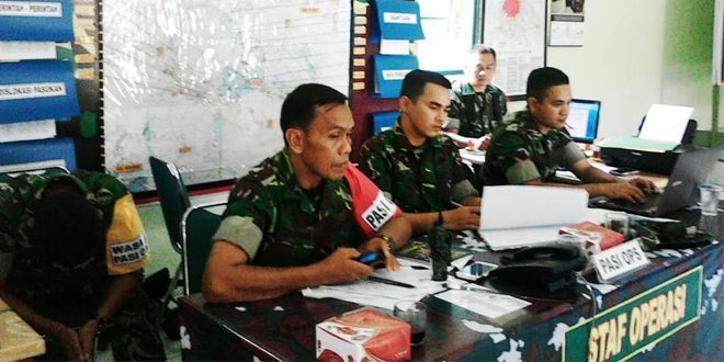 Kodim 0307/Tanah Datar Gelar Latihan Posko I Penanggulangan Bencana