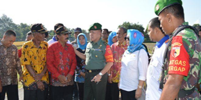 Tim Mabesad, Tinjau Serapan Gabah Petani ( Sergap ) di Mojokerto