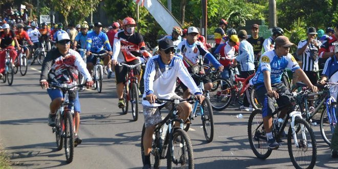 Sehat Bersepeda Bersama Kodim 0824 Jember