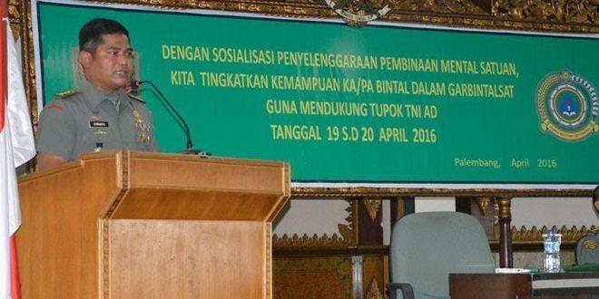 Kodam II/Swj Terima Sosialisasi Penyelenggaraan Bintal Satuan