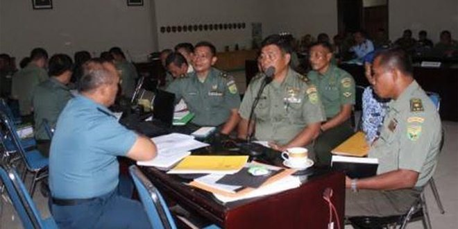Korem 043/Gatam Terima Kunjungan Tim Wasrik Irjen TNI