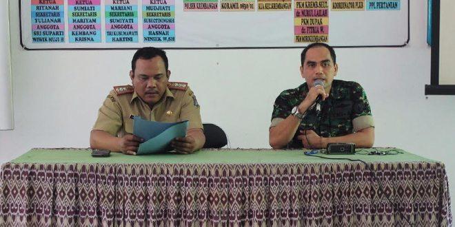 Danramil Tanamkan Wawasan Kebangsaan pada staf dan Lurah wilayah Kecamatan Krembangan Surabaya