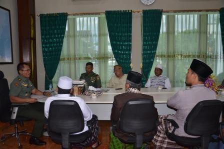 Danrem 043/Gatam Terima Audiensi Habieb Dan Ulama Bandar Lampung.