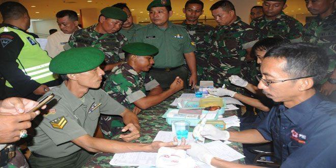 Korem 063/SGJ Gelar Donor Darah Dalam Rangka HUT ke-70 Kodam III/SLW