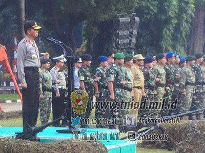 Pangdam Jaya Silaturahmi Dengan Tiga Pilar Melalui Upacara Bendera Bersama