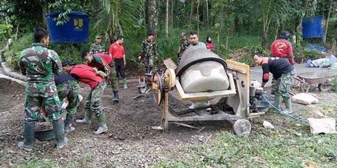 Satgas TMMD Kodim Klaten Garap Fisik Tambahan di Panggang