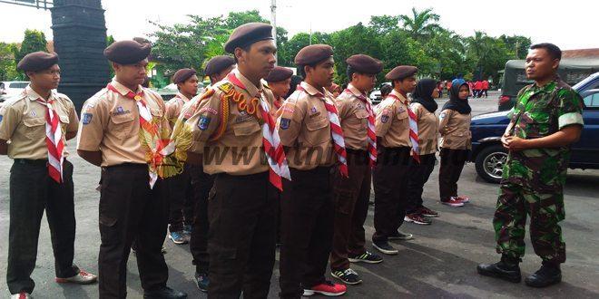 Saka Wira Kartika Kodim 0732/Sleman Latihan PBB