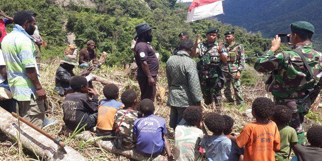 Lanjutkan Program Percepatan Pencapaian Swasembada Pangan di Puncak Jaya, Yonif Raider 509 Kostrad Bentuk Kelompok Tani di Distrik Yambi