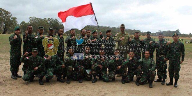 TNI AD Juara Umum Lomba Tembak antar Angkatan Darat di Australia