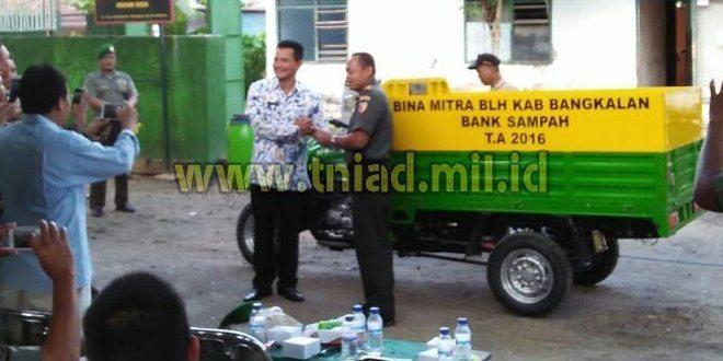 Pelopori Cinta Lingkungan, Kodim 0829/Bangkalan Resmikan Bank Sampah