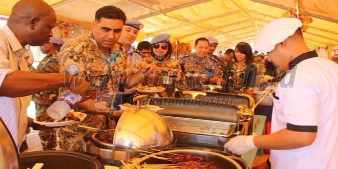 Kontingen Garuda XXXV-B Meriahkan Food Festival di Sektor Barat Darfur