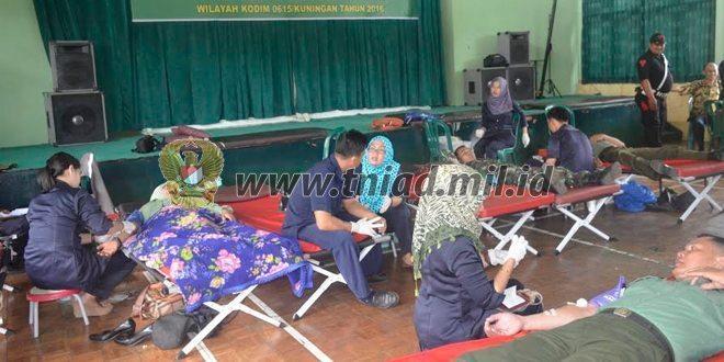 Kodim Gelar Donor Darah Dalam Rangka HUT Kodam lll /Slw