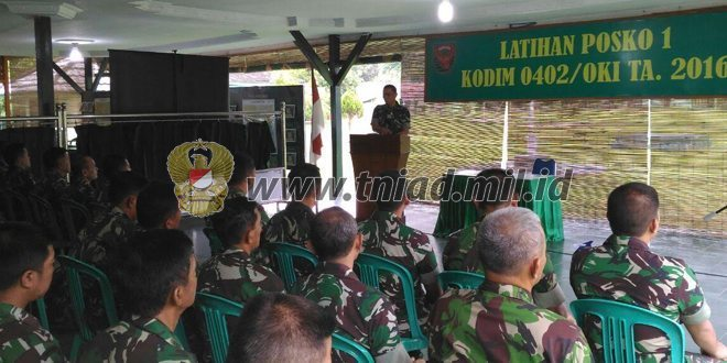Kasrem 012/TU Buka Geladi Posko I Kodim 0114/Aceh Jaya