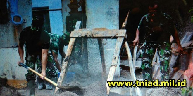 TMMD Wilayah Bekasi Bangun Rumah Bapak Suharto