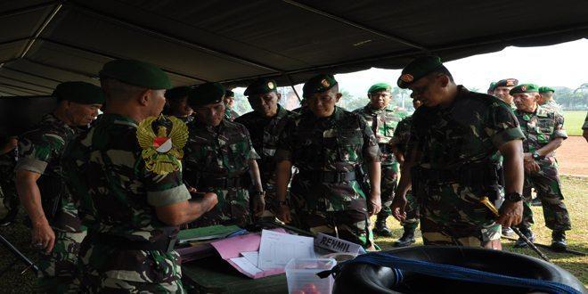 Komandan Kodiklat TNI AD Pimpin Gelar Kesiapan Lomba Peleton Tangkas Periode I Ta 2016