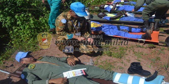 Kontingen Garuda Pimpin Evakuasi Korban di Bandara Kongo