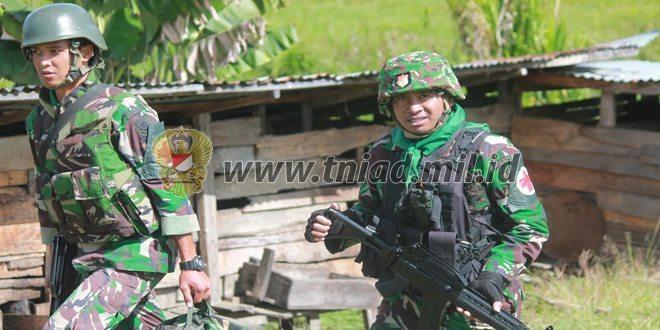 Satgas Pamrahwan Papua dan Papua Barat Yonif Raider 509 Kostrad Terjunkan Tim Patroli Kesehatan