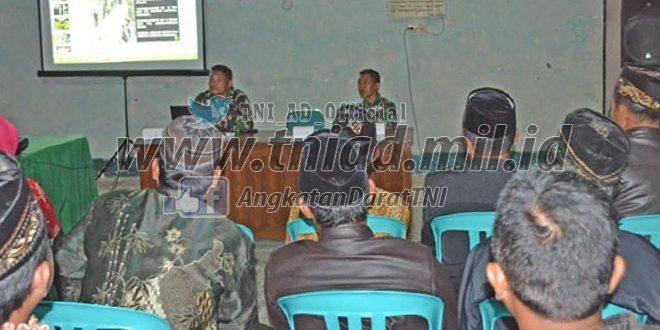 Kodim 0804/Magetan Selenggarakan Bintal Kejuangan pada TMMD di Desa Majung
