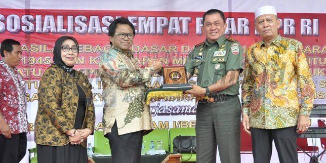 Kodam I/BB Kerjasama Dengan MPR RI Melaksanakan Sosialisasi Empat Pilar Kebangsaan
