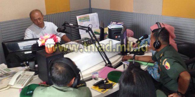 Babinminvercaddam V/Brawijaya On Air Di RRI Pro 4 Surabaya