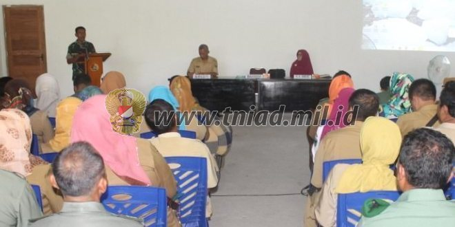 Kodim 0311/Pessel Sosialisasikan Kebijakan Dampak Kependudukan Tingkat Kabupaten Pesisir Selatan.