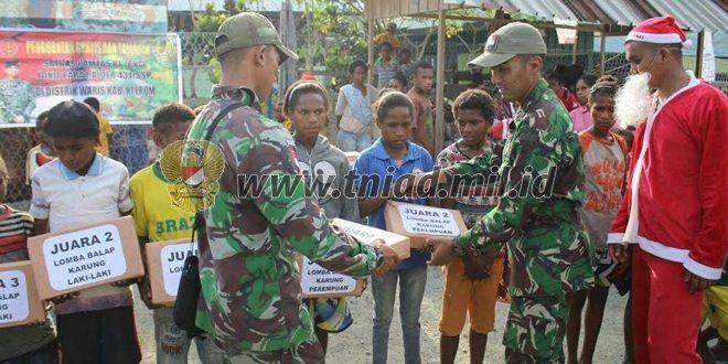 Satgas Yonif Para Raider 431/SSP Kostrad Gandeng Pertamina Gelar Pengobatan Massal