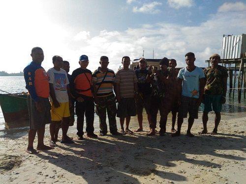 Babinsa Koramil 1709-04/Yapbar Bersama Satpolair Polres Kep. Yapen Tangkap Aktivitas Ilegal Fishing