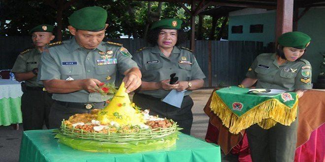 Kasrem 171/PVT Pimpin Acara Syukuran HUT ke-53 Kodam XVII/Cenderawasih Tahun 2016